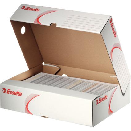 Esselte Archiv-Schachtel, DIN A4, weiß, (B)80 mm