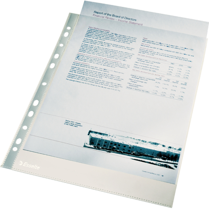 Esselte Prospekthülle Economy, DIN A4, PP, glasklar, 0,04 mm