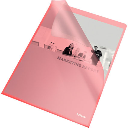 Esselte Sichthüllen Standard, DIN A4, PP, rot, 0,12 mm