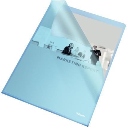 Esselte Sichthüllen Standard, DIN A4, PP, blau, 0,12 mm
