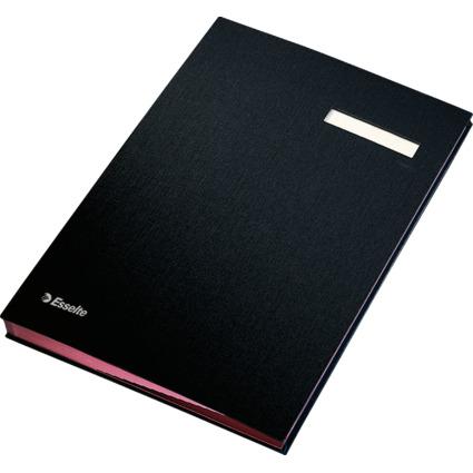 Esselte Unterschriftenmappe, DIN A4, 20 Fächer, schwarz