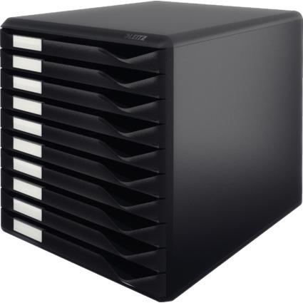LEITZ Schubladenbox Formular-Set, 10 Schübe, schwarz
