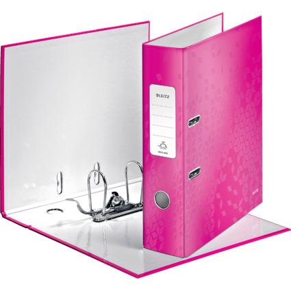 LEITZ Ordner WOW, 180 Grad, DIN A4, 80 mm, pink