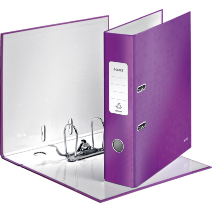 LEITZ Ordner WOW, 180 Grad, DIN A4, 80 mm, violett