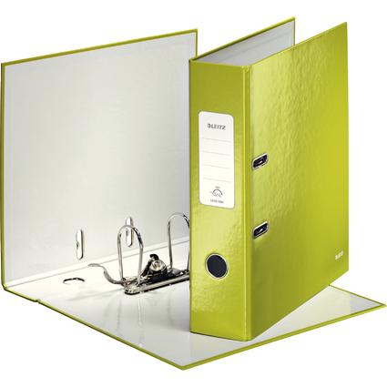 LEITZ Ordner WOW, 180 Grad, DIN A4, 80 mm, grün