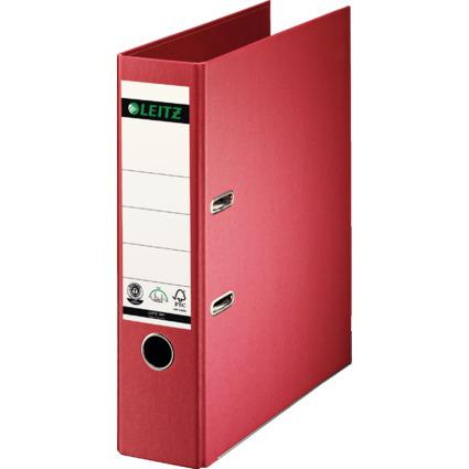 LEITZ Vollpapier-Ordner, 180 Grad, DIN A4, 80 mm, rot