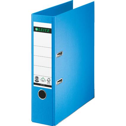 LEITZ Vollpapier-Ordner, 180 Grad, DIN A4, 80 mm, hellblau