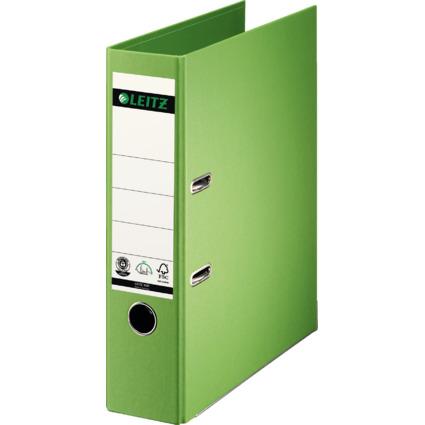 LEITZ Vollpapier-Ordner, 180 Grad, DIN A4, 80 mm, hellgrün