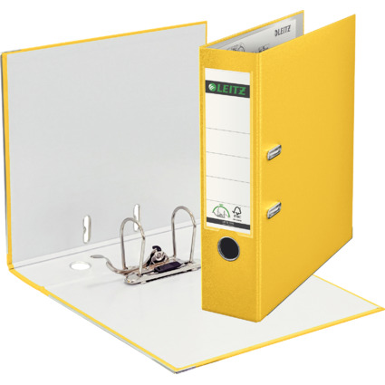 LEITZ 180 Grad Ordner, DIN A4, 80 mm, gelb