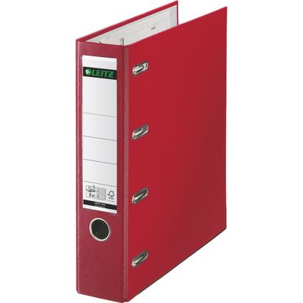 LEITZ Plastik-Doppelordner, für 2 x A5 quer, 75 mm, rot
