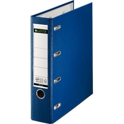 LEITZ Plastik-Doppelordner für 2 x A5 quer, 75 mm, blau