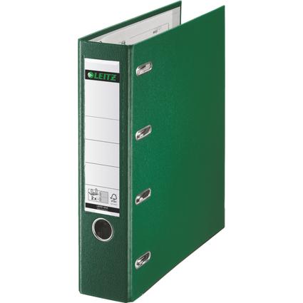 LEITZ Plastik-Doppelordner, für 2 x A5 quer, 75 mm, grün