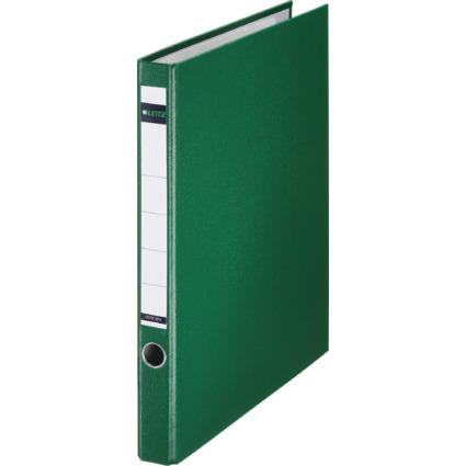 LEITZ Plastik-Ringordner, DIN A4, grün, 2 D-Ring-Mechanik