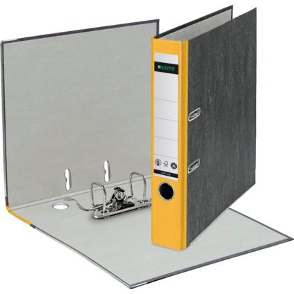 LEITZ Wolkenmarmor-Ordner, 180 Grad, DIN A4, 52 mm, gelb