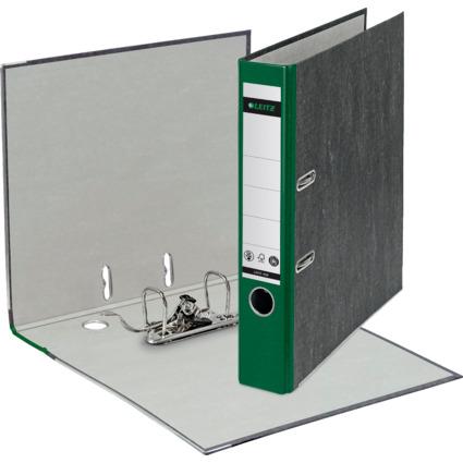 LEITZ Wolkenmarmor-Ordner, 180 Grad, DIN A4, 52 mm, grün