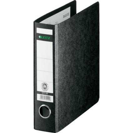 LEITZ Hartpappe-Ordner, 180 Grad, DIN A5, 56 mm, schwarz