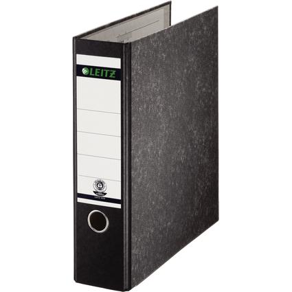LEITZ Wolkenmarmor-Ordner, 180 Grad, DIN A4, 80 mm, schwarz