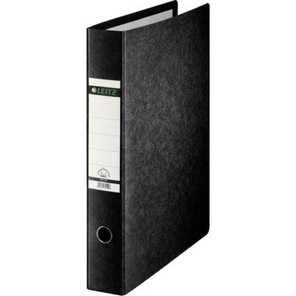 LEITZ Hartpappe-Ordner, 180 Grad, DIN A3, 77 mm, schwarz