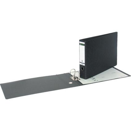 LEITZ Hartpappe-Ordner, 180 Grad, DIN A3 quer, 77 mm,schwarz
