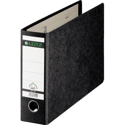 LEITZ Hartpappe-Ordner, 180 Grad, DIN A4 quer, 77 mm,schwarz