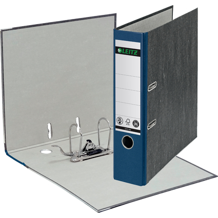 LEITZ Wolkenmarmor-Ordner, 180 Grad, DIN A4, 80 mm, blau