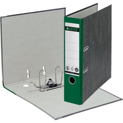 LEITZ Wolkenmarmor-Ordner, 180 Grad, DIN A4, 80 mm, grün