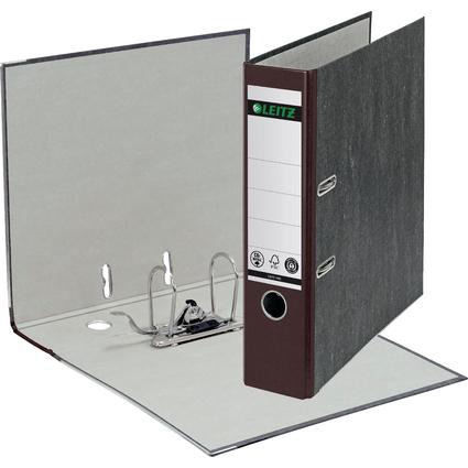LEITZ Wolkenmarmor-Ordner, 180 Grad, DIN A4, 80 mm, braun