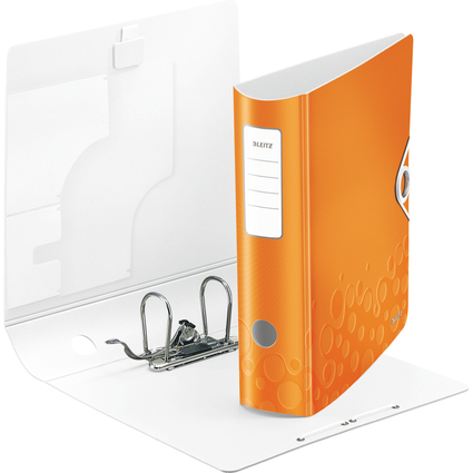 LEITZ Ordner Active WOW, 180 Grad, 80 mm, orange