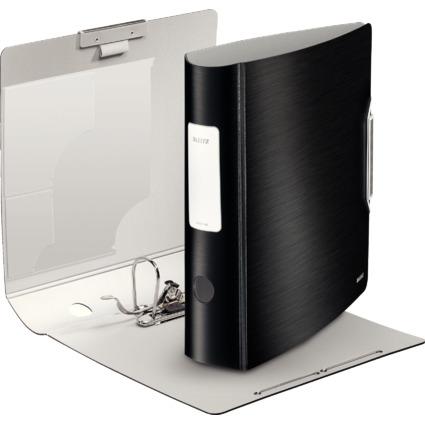 LEITZ Ordner Active Style, 180 Grad, 80 mm, satin-schwarz