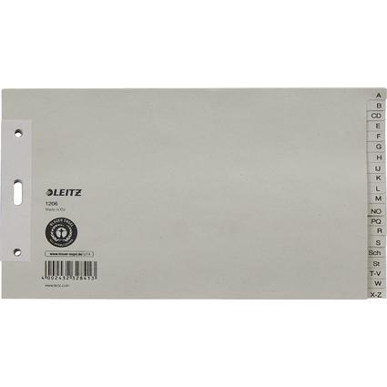 LEITZ Tauenpapier-Register, A-Z, A5 quer, 20-teilig, grau