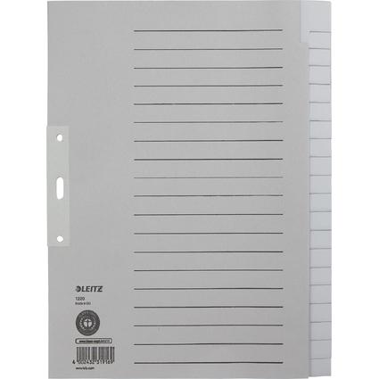 LEITZ Tauenpapier-Register, blanko, A4 Überbreite, 20-teilig