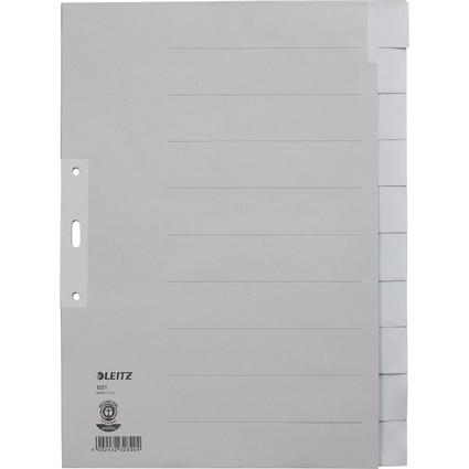 LEITZ Tauenpapier-Register, blanko, A4 Überbreite, 10-teilig