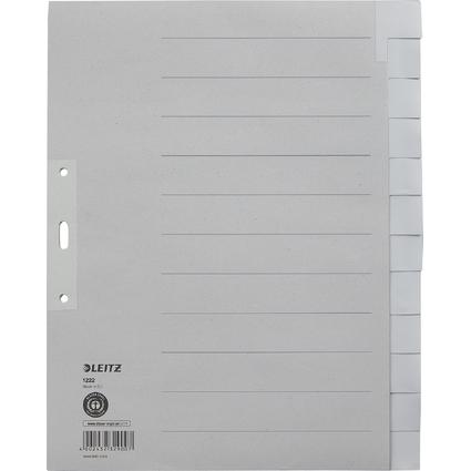 LEITZ Tauenpapier-Register, blanko, A4 Überbreite, 12-teilig