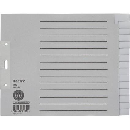 LEITZ Tauenpapier-Register, blanko, A4 Überbreite, 15-teilig