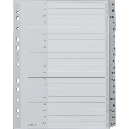 LEITZ Kunststoff-Register, A-Z, A4 Überbreite, 20-teilig