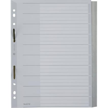LEITZ Kunststoff-Register, blanko, A4 Überbreite, schräg