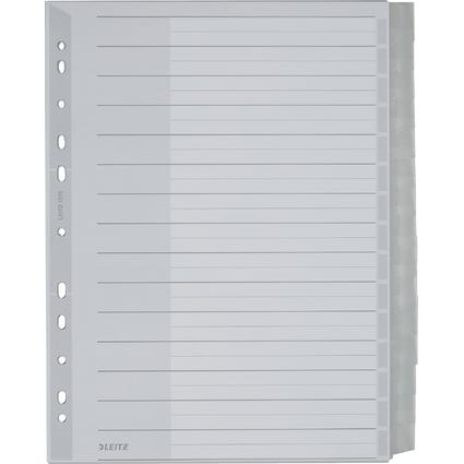 LEITZ Kunststoff-Register, blanko, A4 Überbreite, 15-teilig