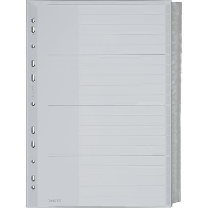 LEITZ Kunststoff-Register, blanko, A4 Überbreite, 20-teilig