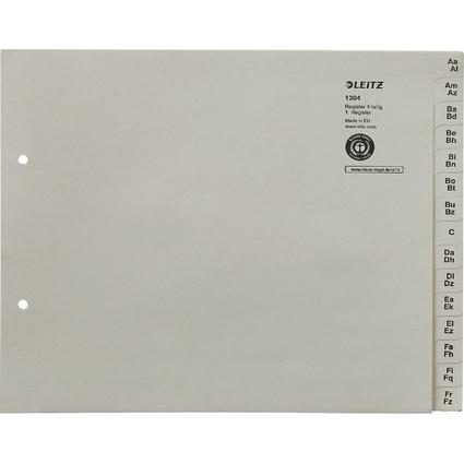 LEITZ Tauenpapier-Register, A-Z, für 4 Ordner, grau