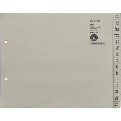 LEITZ Tauenpapier-Register, A-Z, für 6 Ordner, grau