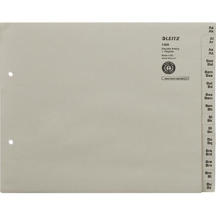 LEITZ Tauenpapier-Register, A-Z, für 8 Ordner, grau