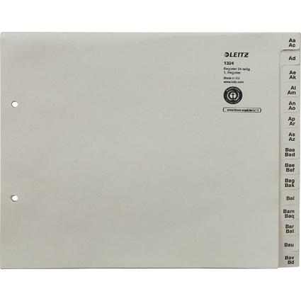 LEITZ Tauenpapier-Register, A-Z, für 24 Ordner, grau