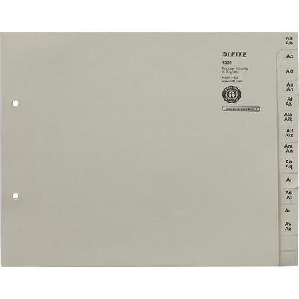 LEITZ Tauenpapier-Register, A-Z, für 36 Ordner, grau