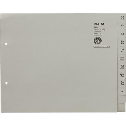 LEITZ Tauenpapier-Register, A-Z, für 50 Ordner, grau