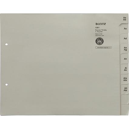LEITZ Tauenpapier-Register, A-Z, für 75 Ordner, grau