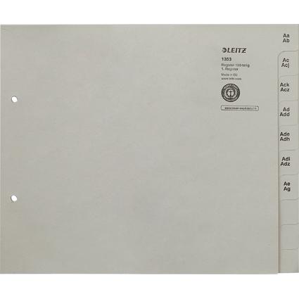 LEITZ Tauenpapier-Register, A-Z, für 150 Ordner, grau