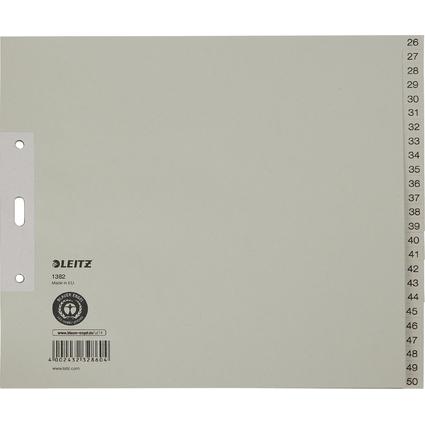 LEITZ Tauenpapier-Register, Zahlen, A4 Überbreite, 26-50
