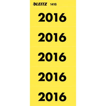 """LEITZ Ordner-Inhaltsschild """"Jahreszahl 2016"""", gelb"""