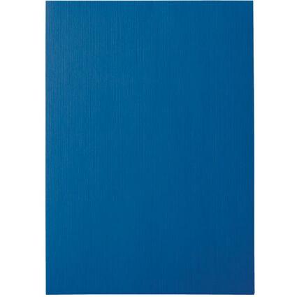 LEITZ Deckblatt, Leinenkarton, DIN A4, blau