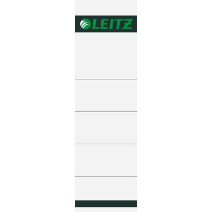 LEITZ Ordnerrücken-Einsteckschild, 57 x 190 mm, Karton, grau